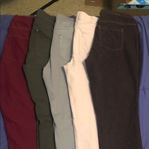 ‼️ 5 pack Solid color Hue Leggings set